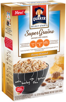 Quaker® Select Starts Super Grains Honey Almond Instant Hot Cereal