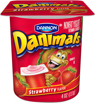 Danimals Nonfat Yogurt Strawberry 4 Oz Cup