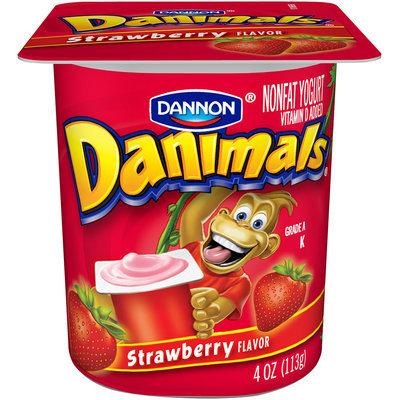 Danimals Nonfat Yogurt Strawberry 4 Oz Cup