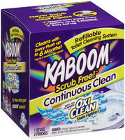 Kaboom™ Scrub Free!™ Continuous Clean with OxiClean™ Refillable Toilet Cleaning System Box