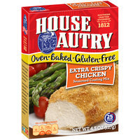 House-Autry® Oven-Baked Gluten-Free Extra Crispy Chicken Seasoned Coating Mix 4.5 oz. Box