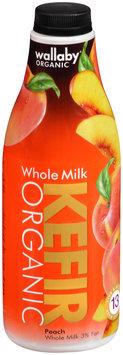 Wallaby® Organic Whole Milk Peach Kefir 32 fl. oz. Bottle