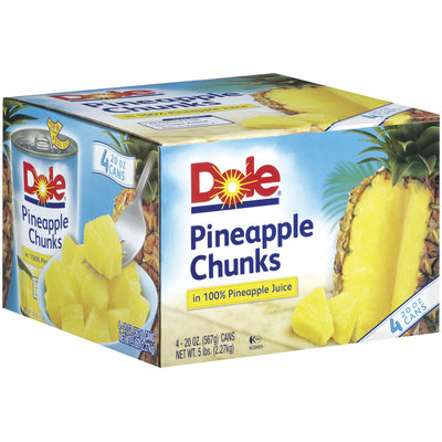 Dole In 100% Pineapple Juice 20 Oz Pineapple Chunks
