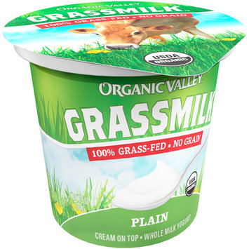Organic Valley® Grassmilk™ Organic Plain Whole Milk Yogurt Cup