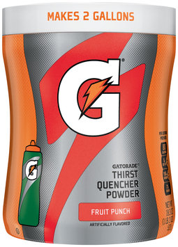 Gatorade® G® Series Perform Fruit Punch Sports Drink Powder 18.4 oz. Canister
