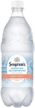 Seagram's White Peach Sparkling Seltzer Water 1L Plastic Bottle