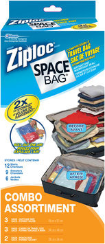 Ziploc® Space Bag® Compressible Travel Combo Storage Bags 8 ct Box