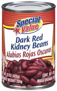 Special Value Dark Red Kidney Beans 15 Oz Can