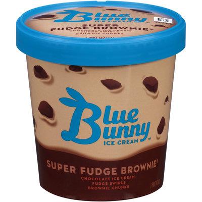 Blue Bunny® Super Fudge Brownie® Ice Cream 1 pt Tub