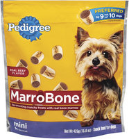 Pedigree Marrobone Real Beef Flavor Mini Toy/Small Dog Care & Treats 15 Oz Stand Up Bag