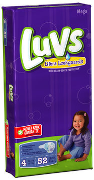 Luvs with Ultra Leakguards Mega Pack Size 4 Diapers 52 ct