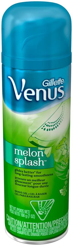 Gillette Venus Melon Splash Shave Gel, 7 Oz