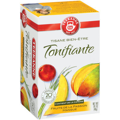 Teekanne Herbal Wellness Caffeinated Passionfruit Mango Tea Tea Bags 20 Ct Box