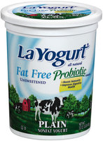 La Yogurt Fat Free Plain Unsweetened Yogurt Probiotic 32 Oz Tub