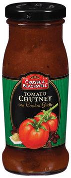Crosse & Blackwell Tomato W/Crushed Garlic Chutney 8.25 Oz Glass Bottle