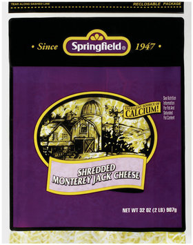 Springfield Monterey Jack Shredded Cheese 32 Oz Bag