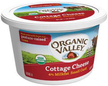 Organic Valley® Small Curd 4% Milkfat Cottage Cheese 16 oz. Tub