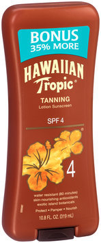 Hawaiian Tropic® Tanning Lotion Sunscreen SPF 4 10.8 fl. oz. Bottle
