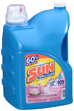 Sun® Triple Clean Original Fresh 105 Medium Loads Laundry Detergent 188 fl. oz. Jug
