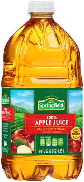 Springfield® 100% Apple Juice 64 fl. oz. Bottle