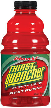 Schnucks Thirst Quencher Fruit Punch Sports Drink 32 Oz Plastic Bottle