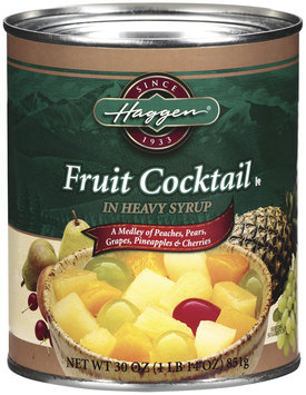Haggen In Heavy Syrup Fruit Cocktail 30 Oz Can