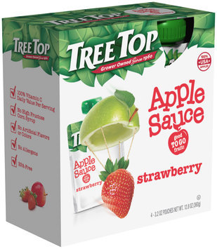 Tree Top® Strawberry Apple Sauce 3.2 oz. Pouch