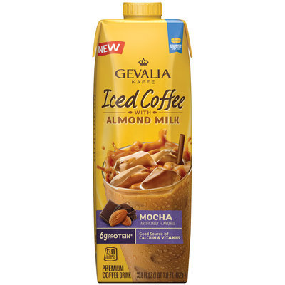 Gevalia Mocha Iced Coffee with Almond Milk 33.8 fl. oz. Aseptic Pack