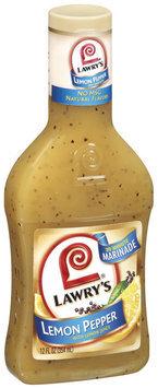 Wet Marinade 30 Minute Lemon Pepper W/Lemon Juice Lawry's Marinade 12 Oz Plastic Bottle