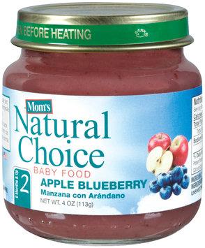 Mom's Natural Choice Baby Food Apple Blueberrye 4 oz Jar
