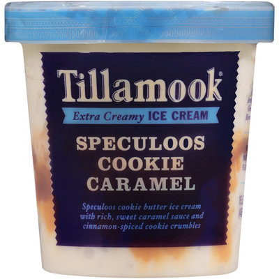 Tillamook® Speculoos Cookie Caramel Extra Creamy Ice Cream 15.5 fl. oz. Tub