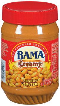 Bama Spreads Creamy, Modified 6/30/07 Peanut Butter 28 Oz Plastic Jar
