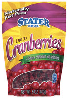 Stater Bros. Dried Cranberries 6 Oz Peg