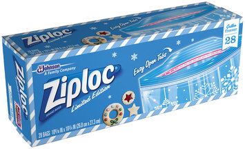 Ziploc Limited Edition Holiday Gallon Freezer Storage Bags 28 ct Box