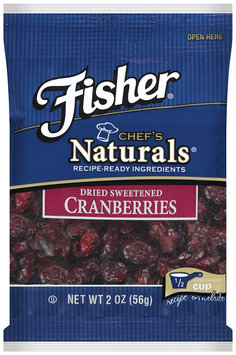 Fisher® Chef's Naturals® Dried Sweetened Cranberries 2 oz Bag