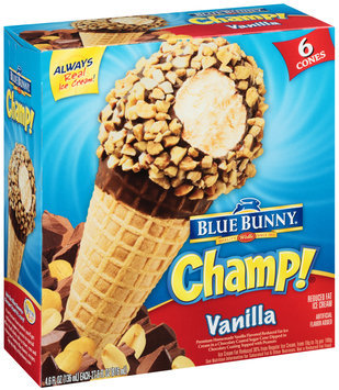 Blue Bunny Champ! Vanilla Ice Cream Cones