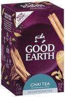 GOOD EARTH Decaffeinated Chai Tea Tea Bags 18 CT BOX