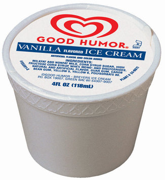Good Humor Ice Cream Cup Vanilla Single Serve Novelty 4 Oz Cup