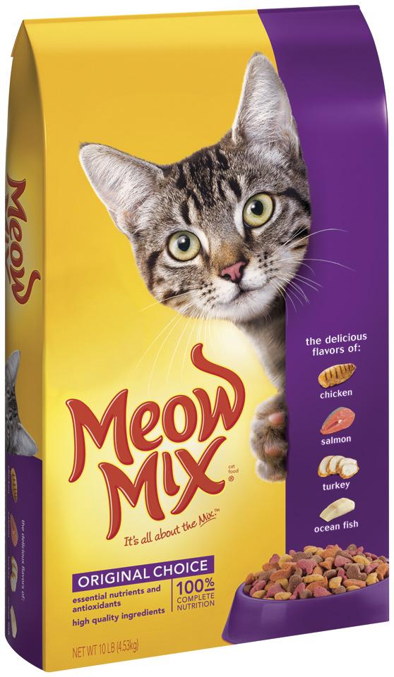 Meow Mix Original Choice Dry Cat Food, 10-Pound