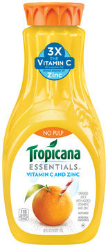 Tropicana Essentials™ No Pulp Vitamin C and Zinc Orange Juice 59 fl. oz. Carafe