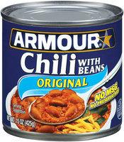 Armour W/Beans Original Chili 15 Oz Can