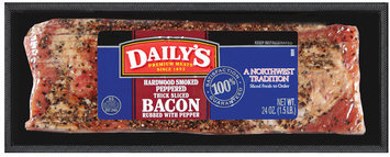 Daily's® Hardwood Smoked Peppered Thick Sliced Bacon 24 oz