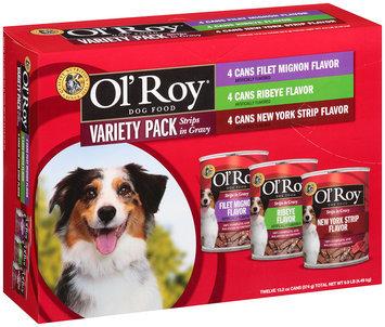 Ol' Roy® Strips in Gravy Variety Pack Filet Mignon Flavor, Ribeye Flavor, New York Strip Flavor Dog Food 9.9 lb. Box