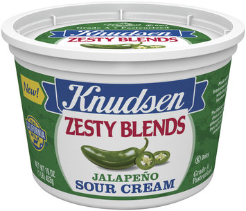 Knudsen Zesty Blends Jalapeno Sour Cream 16 Oz Tub