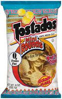 Golden Flake Tostados 100% White Corn Mini Rounds Bite-Size Tortilla Chips 9 Oz Bag