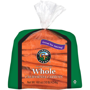 Grimmway Farms® Fresh & Crunchy Whole California Carrots 160 oz. Bag