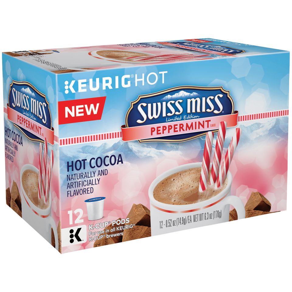 Swiss Miss Peppermint Flavor Hot Cocoa K-Cup Pods