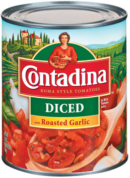 Contadina Diced with Roasted Garlic Tomatoes 28 oz. Can