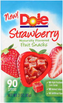 Dole Strawberry Naturally Flavored Fruit Snacks