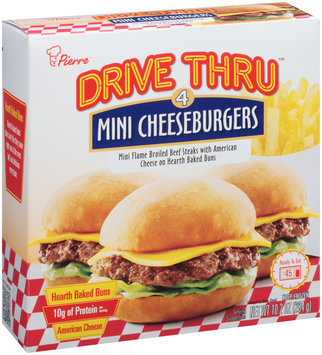 Pierre™ Drive Thru™ Mini Cheeseburgers 4 ct Box